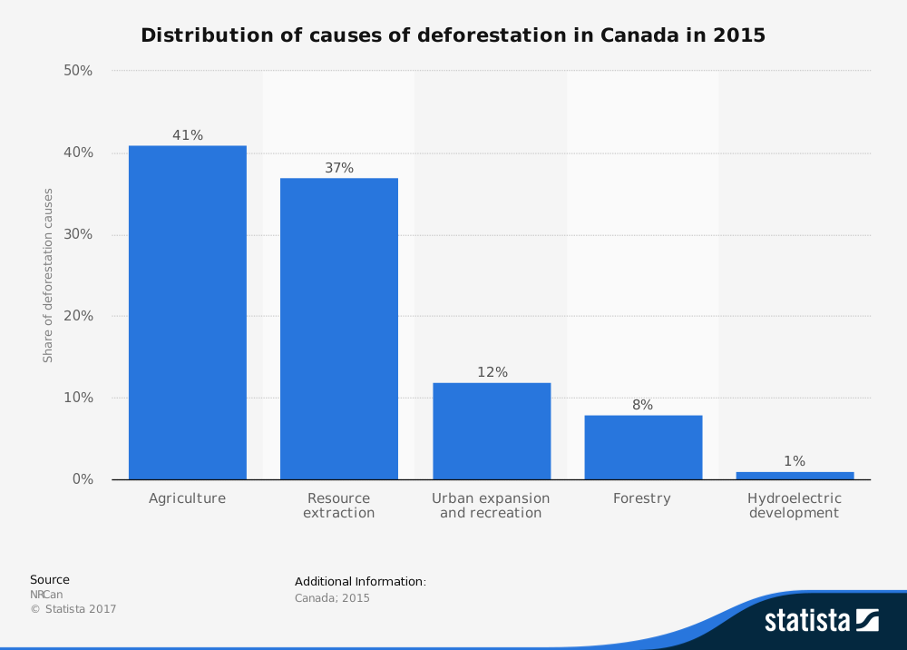Causes of Deforestation Stats