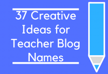 37 Creative Ideas for Teacher Blog Names