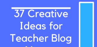 37 Creative Ideas for Teacher Blog Names