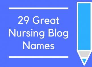 29 Great Nursing Blog Names