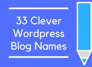 33 Clever Wordpress Blog Names