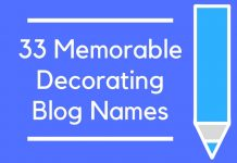 33 Memorable Decorating Blog Names