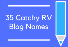 35 Catchy RV Blog Names