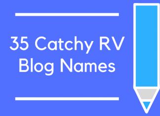 35 Catchy RV Blog Names