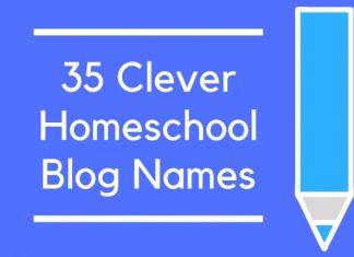 35 Clever Homeschool Blog Names