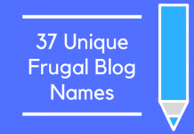 37 Unique Frugal Blog Names