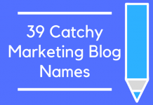 39 Catchy Marketing Blog Names