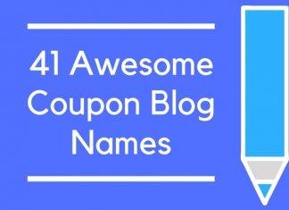 41 Awesome Coupon Blog Names