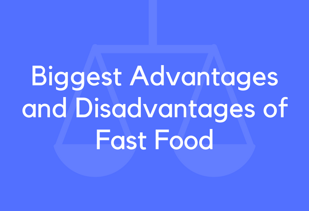advantages and disadvantages of junk food in points