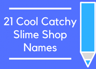 21 Cool Catchy Slime Shop Names
