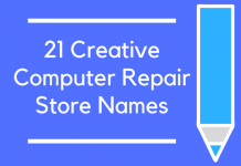 21 Creative Computer Repair Store Name