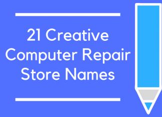 21 Creative Computer Repair Store Name
