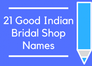 21 Good Indian Bridal Shop Names