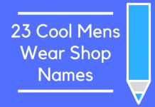 23 Cool Mens Wear Shop Names
