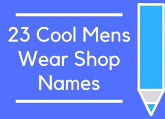 23 Cool Mens Wear Shop Names