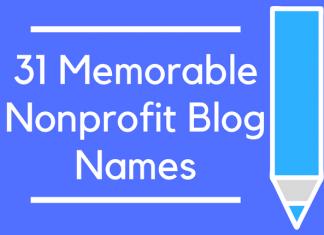 31 Memorable Nonprofit Blog Names
