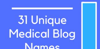 31 Unique Medical Blog Names