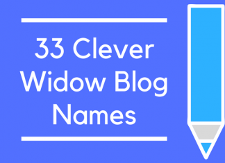 33 Clever Widow Blog Names
