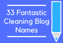 33 Fantastic Cleaning Blog Names