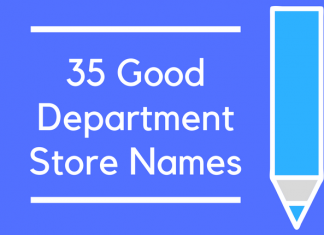 35 Good Department Store Names