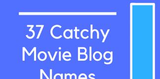 37 Catchy Movie Blog Names