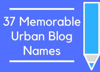 37 Memorable Urban Blog Names