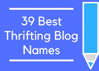 39 Best Thrifting Blog Names