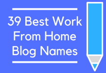 39 Best Work From Home Blog Names