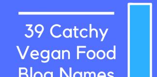 39 Catchy Vegan Food Blog Names