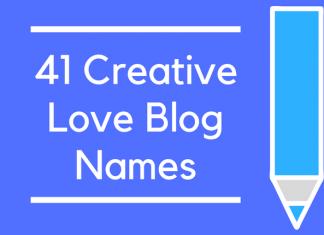 41 Creative Love Blog Names