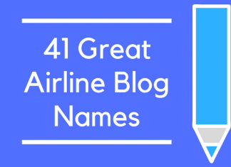 41 Great Airline Blog Names