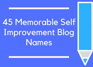 45 Memorable Self Improvement Blog Names