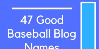 47 Good Baseball Blog Names