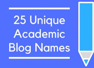 25 Unique Academic Blog Names