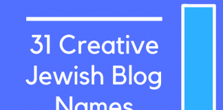 31 Creative Jewish Blog Names