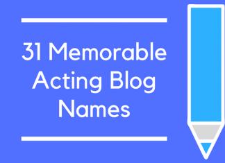31 Memorable Acting Blog Names