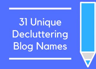 31 Unique Decluttering Blog Names