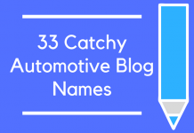 33 Catchy Automotive Blog Names