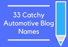 33 Catchy Automotive Blog Names