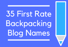 35 First Rate Backpacking Blog Names