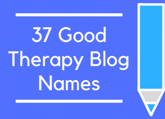 37 Good Therapy Blog Names