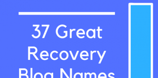 37 Great Recovery Blog Names