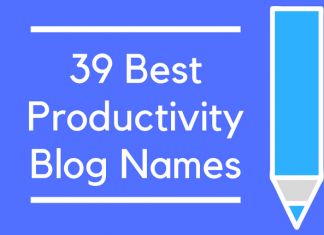 39 Best Productivity Blog Names