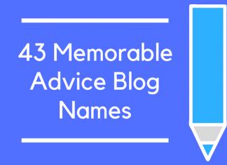 43 Memorable Advice Blog Names