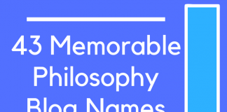 43 Memorable Philosophy Blog Names
