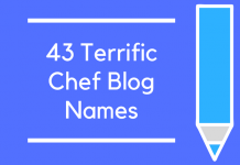 43 Terrific Chef Blog Names
