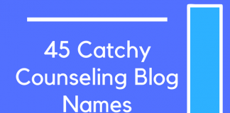45 Catchy Counseling Blog Names