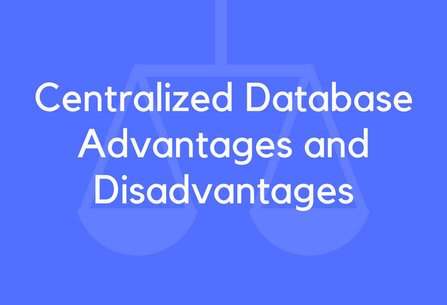 advantages and disadvantages of centralized database pdf
