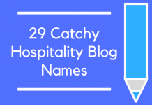 29 Catchy Hospitality Blog Names