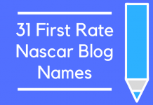 31 First Rate Nascar Blog Names